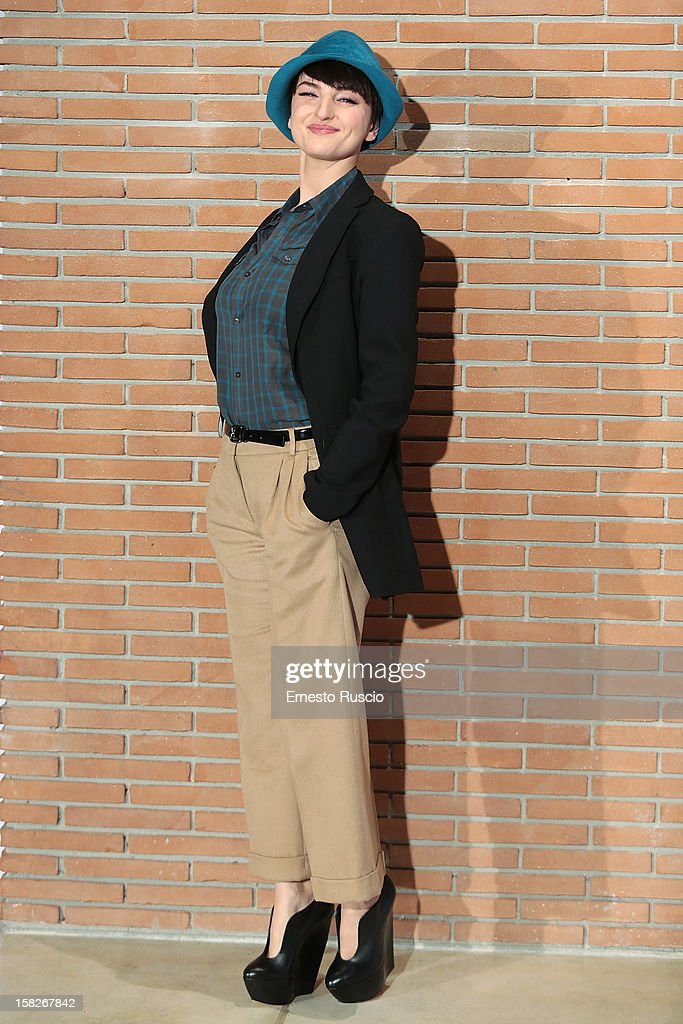 Italian singer Arisa attends the 'Colpi di Fulmine' photocall at Auditorium Parco Della Musica on December 12, 2012 in Rome, Italy.