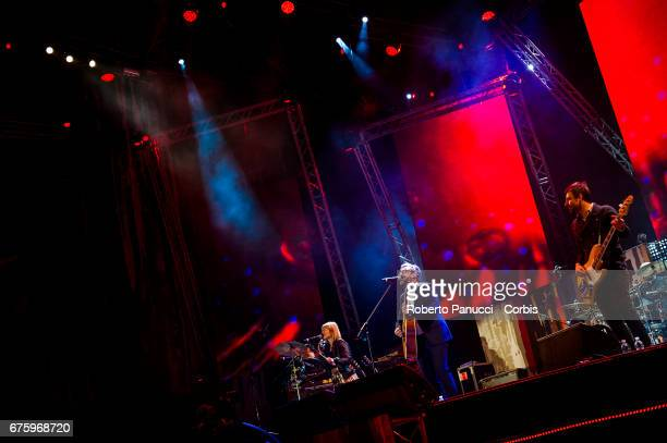 Italian singer Brunori Sas performs in concert at 1st Of May Concert on May 01 2017 in Rome Italy