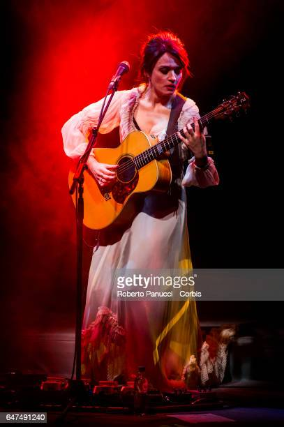 Italian singer Carmen Consoli performs in concert at Auditorium Parco della Musica on March 02 2017 in Rome Italy