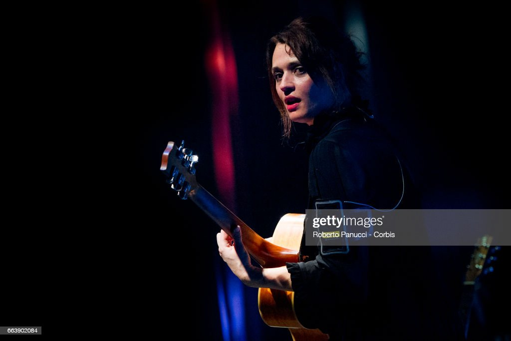 Italian singer Carmen Consoli performs in concert at Politeama Greco Theatre on March 31, 2017 in Lecce, Italy.