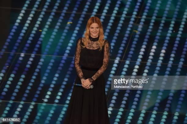 Italian singer Chiara Galiazzo performs at 67th Sanremo Music Festival Sanremo february 8 2017