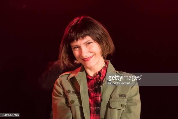 Italian singer Elisa performs on stage at O2 ABC2 Glasgow on February 17 2017 in Glasgow Scotland