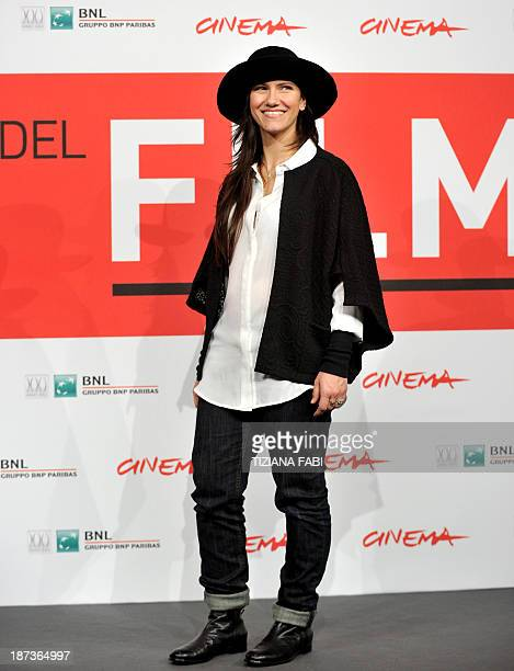 Italian singer Elisa poses during a photocall for the fim 'l'ultima ruota del carro' on November 8 2013 at the Rome International Film Festival AFP...