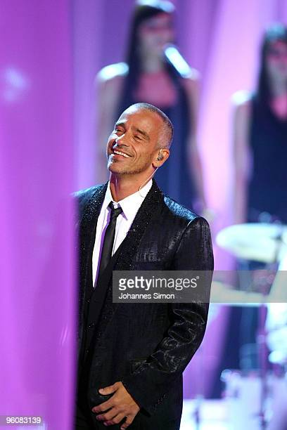 Italian singer Eros Ramazzotti attends the Wetten dass TV Show on January 23 2010 in Friedrichshafen Germany