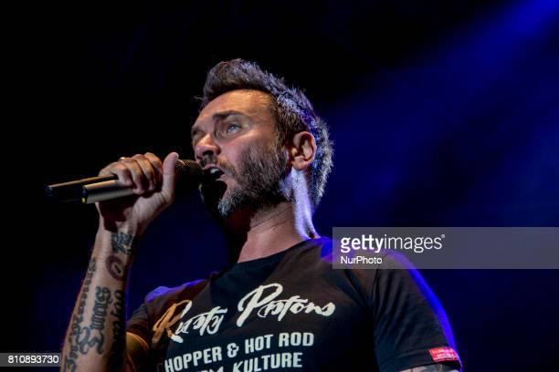 Italian singer Filippo Neviani performs at Marostica Summer Festival in Marostica Italy on July 7 2017