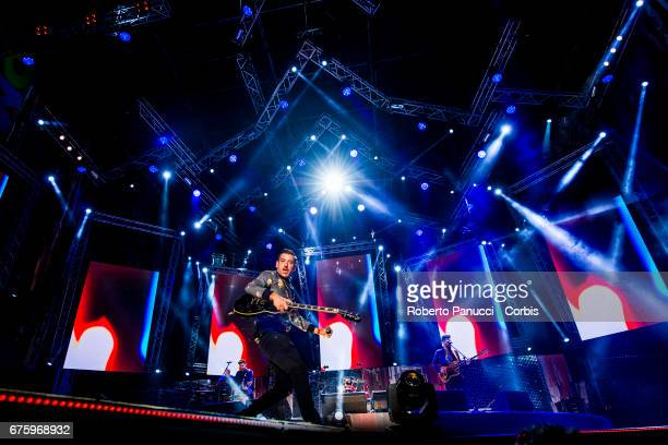 Italian singer Francesco Gabbani performs in concert at 1st Of May Concert on May 01 2017 in Rome Italy