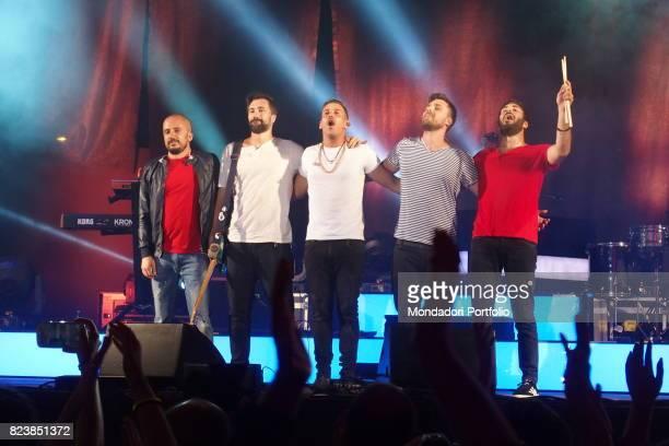 Italian singer Francesco Gabbani performs in Magellano tour at Carroponte Sesto San Giovanni June 29th