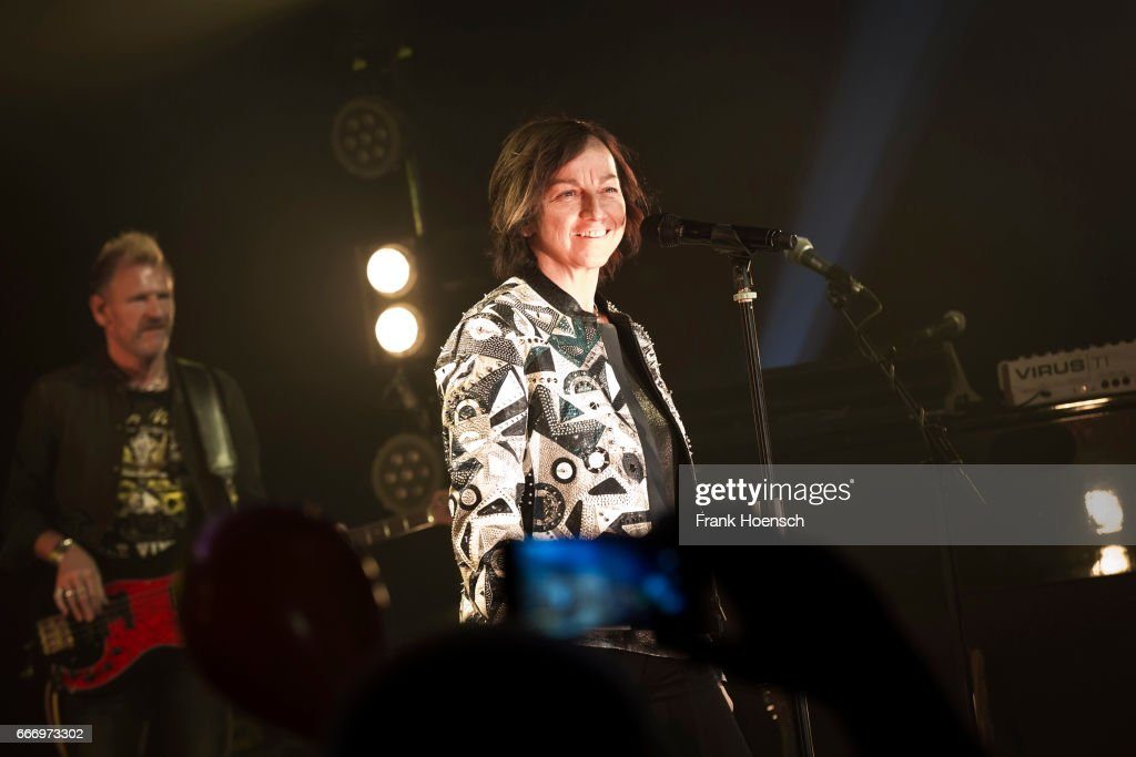 Italian singer Gianna Nannini performs live during a concert at the Admiralspalast on April 10, 2017 in Berlin, Germany.