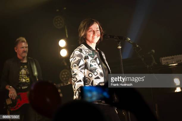 Italian singer Gianna Nannini performs live during a concert at the Admiralspalast on April 10 2017 in Berlin Germany
