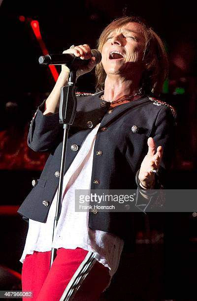 Italian singer Gianna Nannini performs live during the concert Rock meets Classic at the Tempodrom on March 26 2015 in Berlin Germany