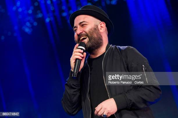 Italian singer Giuliano Sangiorgi and his group Negramaro performs in concert at Fabrique Music Club on March 25 2017 in Milan Italy