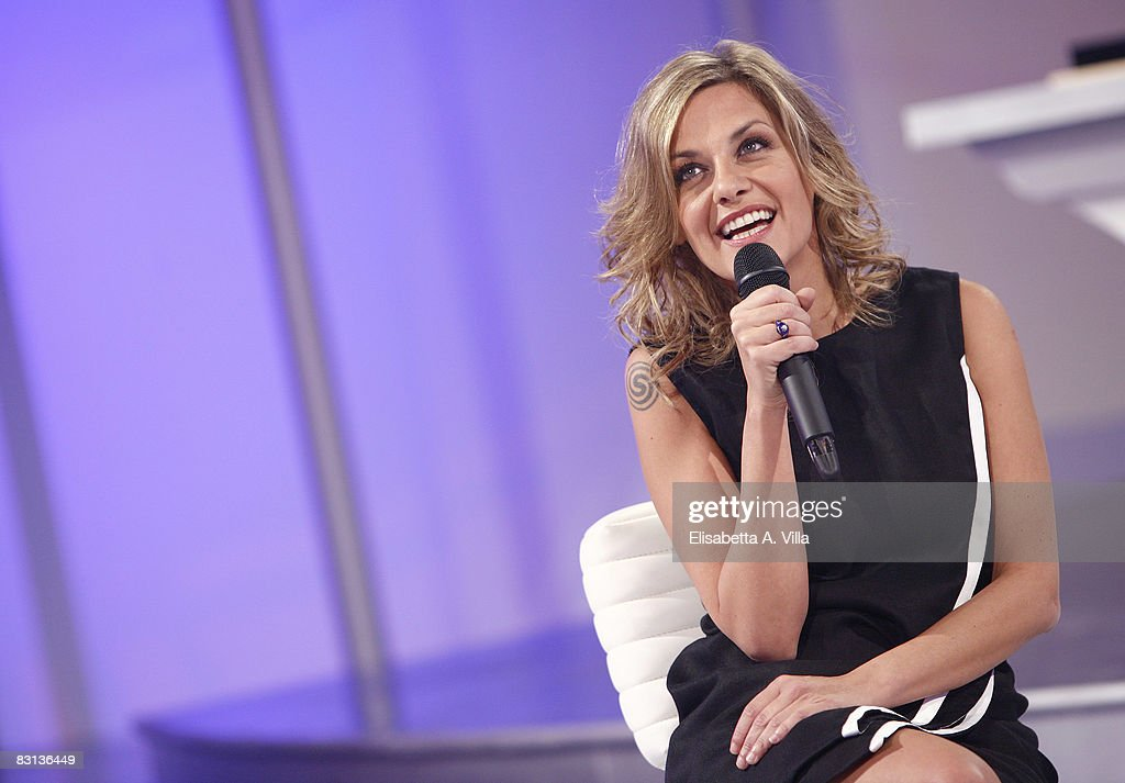 Italian singer Irene Grandi attends the Italian Television Show 'Domenica In' held at RAI Studios on October 5 2008 in Rome Italy