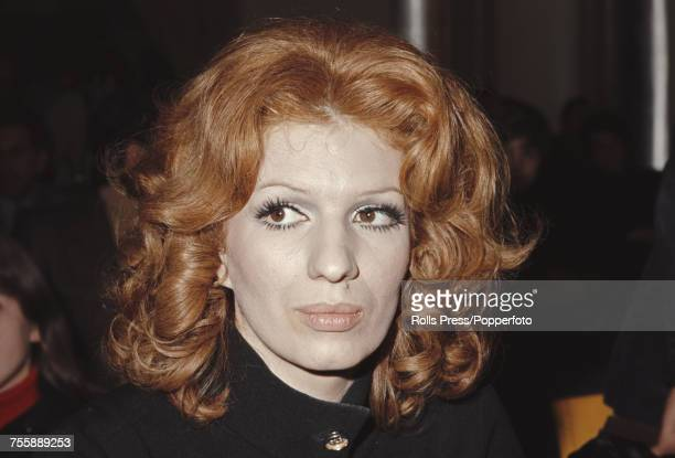 Italian singer Iva Zanicchi pictured at a party function in Italy in 1972