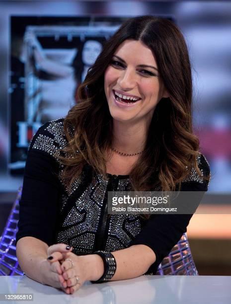 Italian singer Laura Pausini attends 'El Hormiguero' Tv Show at Vertice Studios on November 15 2011 in Madrid Spain
