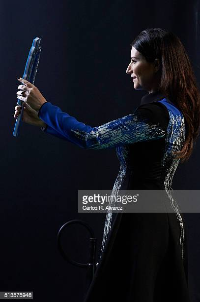 Italian singer Laura Pausini attends the 'Cadena Dial' 2015 awards at the Recinto Ferial on March 3 2016 in Tenerife Spain