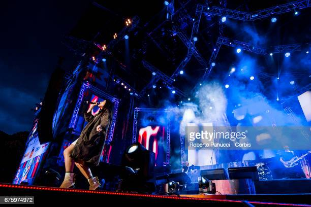Italian singer Levante performs in concert at 1st Of May Concert on May 01 2017 in Rome Italy