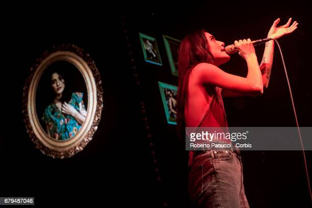Italian singer Levante performs in concert at Atlantico Music Club May 04 2017 in Rome Italy