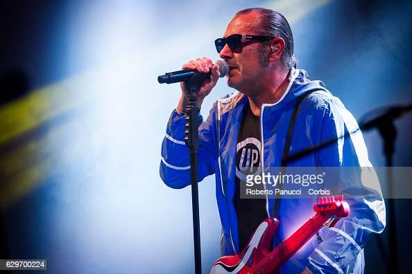 Italian singer Luca Carboni performs in concert at Auditorium Parco della Musica on December 12 2016 in Rome Italy
