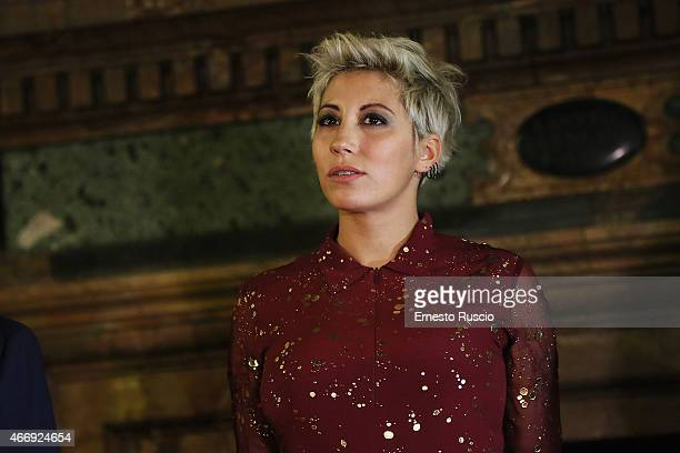 Italian singer Malika Ayane attends the 'Gout De France / Good France' Gala Dinner at the France's embassy Palazzo Farnese on March 19 2015 in Rome...