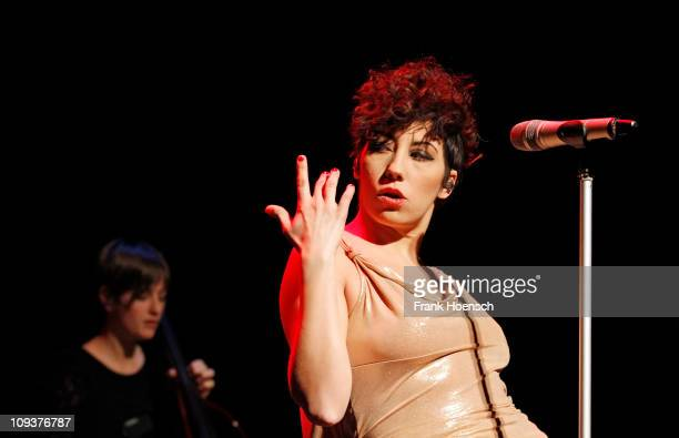 Italian singer Malika Ayane performs live during a concert at the Admiralspalast on February 23 2011 in Berlin Germany