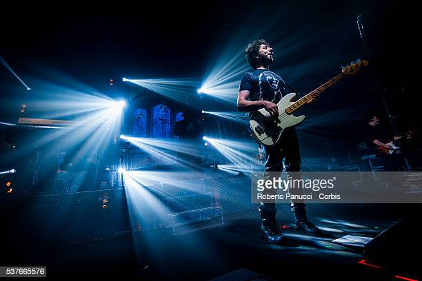 Italian singer Max Gazzè performs in concert at Atlantico Music Club on February 19 2016 in Rome Italy
