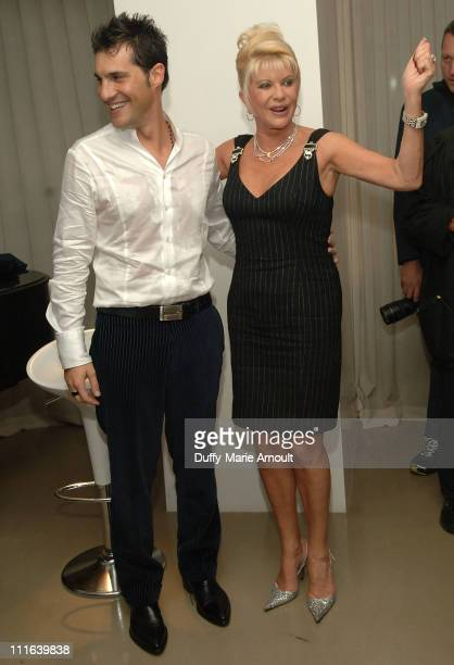 Italian singer Nicola Congiu and Ivana Trump after his private performance at 500 Park Avenue on October 15 2007 in New York City