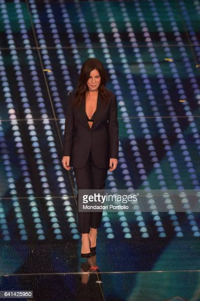 Italian singer Paola Turci performs at 67th Sanremo Music Festival Sanremo february 8 2017