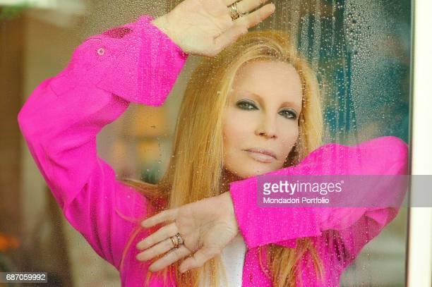 Italian singer Patty Pravo posing in her house in Rome Rome 1990s