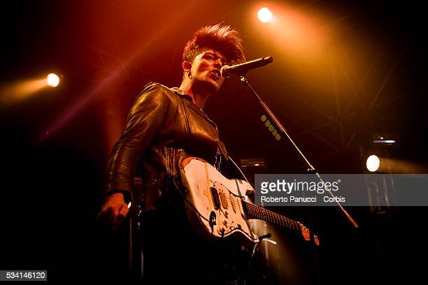 Italian singer Stash and his group The Kolors performs in concert at Atlantico Live Club on May 23 2016 in Rome Italy