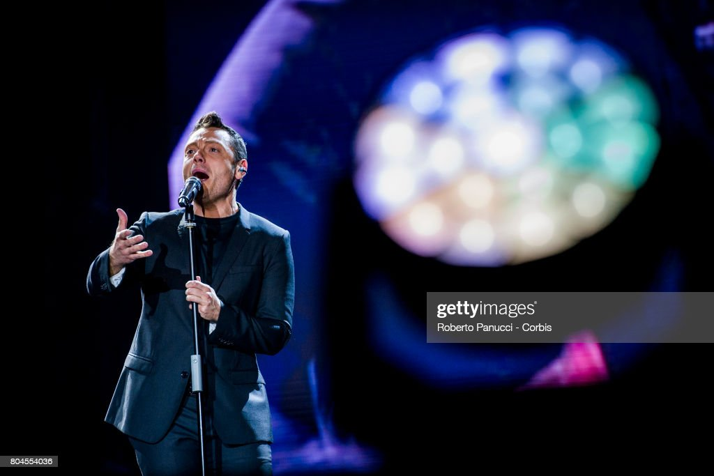 Tiziano Ferro Performs In Rome