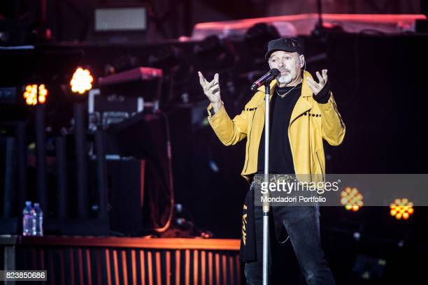 Italian singer Vasco Rossi performs during his record concert at Enzo Ferrari Park where 220000 people attends Modenda July 1st 2017
