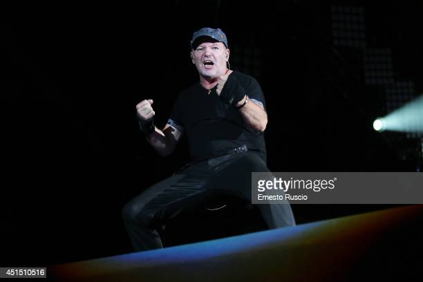 Italian Singer Vasco Rossi performs during the 'Live Kom 014' tour at Stadio Olimpico on June 26 2014 in Rome Italy
