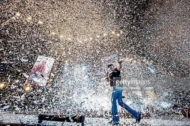Italian singer Vasco Rossi performs in concert at Olympic Stadium on june 23 2016 in Rome Italy