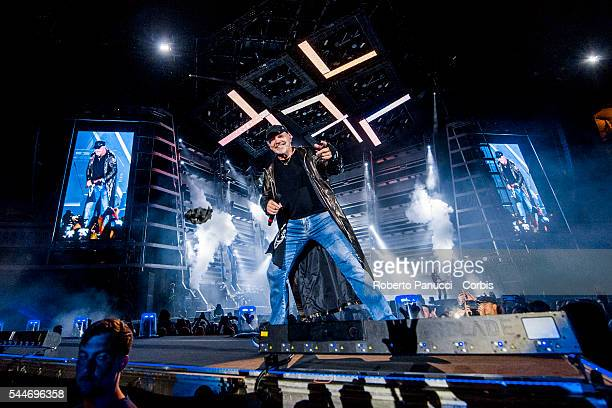 Italian singer Vasco Rossi performs in concert at Olympic Stadium on june 27 2016 in Rome Italy