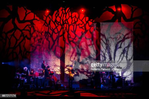Italian singer Vinicio Capossela performs in concert at Auditorium Parco della Musica on april 10 2017 in Rome Italy