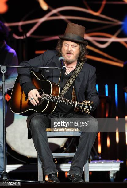 Italian singer Zucchero performs live during the Wind Music Awards Show at the Arena of Verona on May 27 2011 in Verona Italy