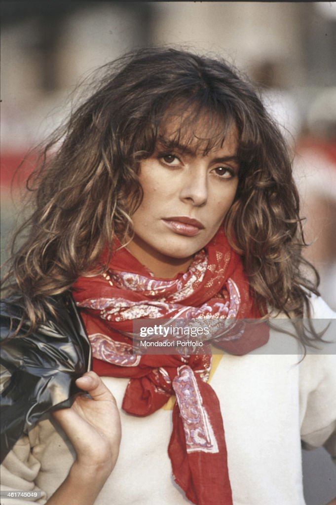 Italian singer-songwriter Alice (<b>Carla Bissi</b>) posing with a neckerchief ... - italian-singersongwriter-alice-posing-with-a-neckerchief-around-her-picture-id461745049