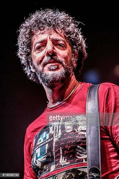 Italian singersongwriter and musician Max Gazzè performs on stage on October 29 2016 in Milan Italy