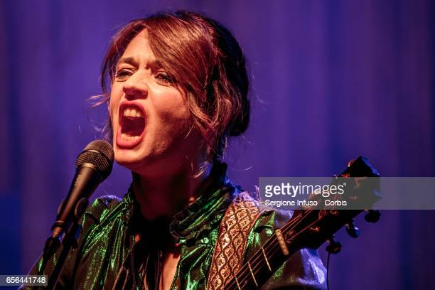 Italian singersongwriter Carmen Consoli performs on stage on March 21 2017 in Milan Italy