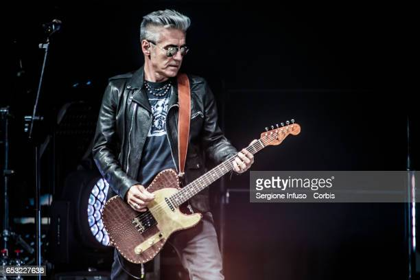 Italian singersongwriter film director and writer Luciano Ligabue commonly known as Ligabue performs on stage on March 13 2017 in Milan Italy