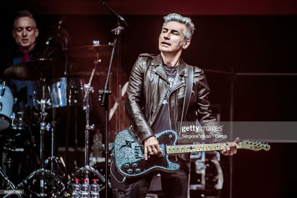 Italian singer-songwriter, film director and writer Luciano Ligabue, commonly known as Ligabue, performs on stage on March 13, 2017 in Milan, Italy.