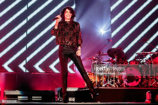 Italian singersongwriter record producer and radio host Giorgia Todrani best known as Giorgia performs on stage on March 24 2017 in Milan Italy