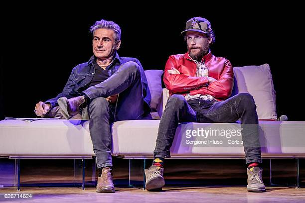 Italian singersongwriters Luciano Ligabue and Jovanotti are guest of the show 'Sottosopra' Roberto Saviano Meets The Audience on November 28 2016 in...