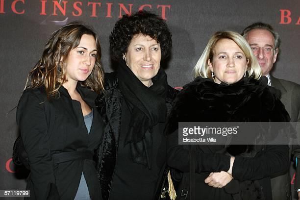 Italian sisters Delfina Carla and Silvia Fendi arrive at the Italian Premiere of 'Basic Instinct II Risk Addiction' at the Warner Village Moderno...