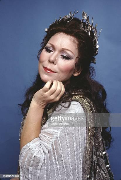 Italian soprano Renata Scotto performs on stage during a Metropolitan Opera production of 'Norma' New York New York 1981
