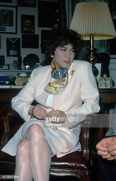 Italian Speaker of the House Irene Pivetti on September 27 1995 in New York New York