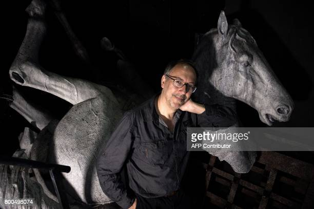 Italian stage director Stefano Vizioli poses on June 15 2017 at the Capitole theater in Toulouse southwest France before the presentation of the...