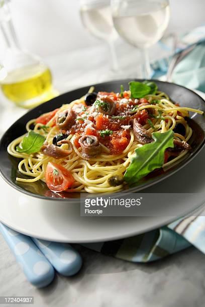 Italiano imagens: Esparguete Puttanesca