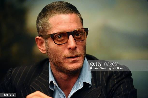 Italian stylist Lapo Elkann presents his book 'Le Regole del mio Stile' at Hotel Carlton on March 13 2013 in Bologna Italy
