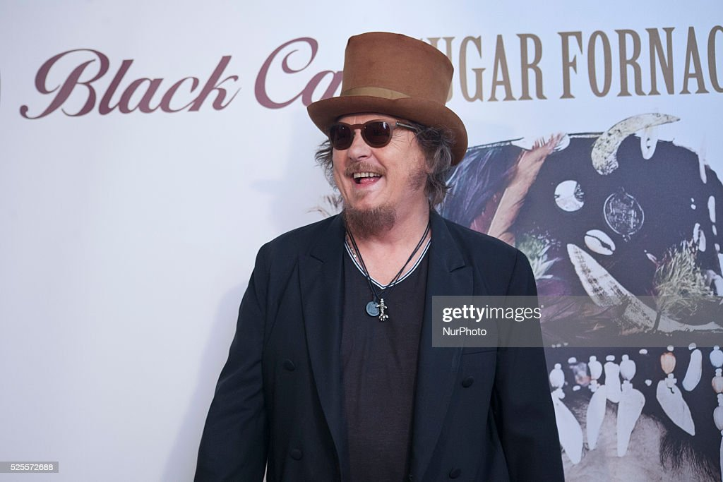 Italian superstar Zucchero attends a photocall to present the new album Black Cat in Milan on April 28th, 2016.
